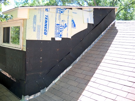 how to cut galvanized flashing