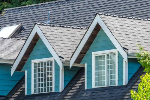 Green eco-friendly vs interlocking asphalt roofing shingles